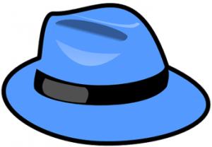 青いハット