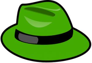 緑のハット