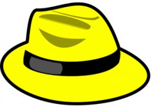 黄色いハット