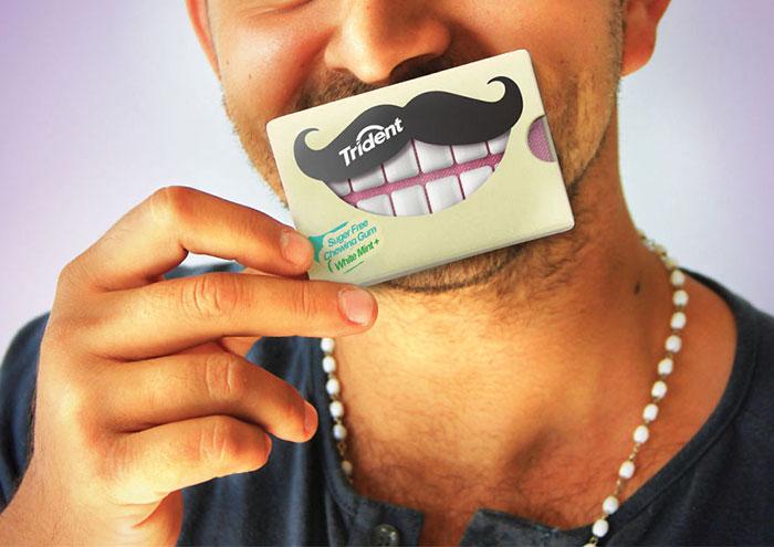 白い歯のガム2